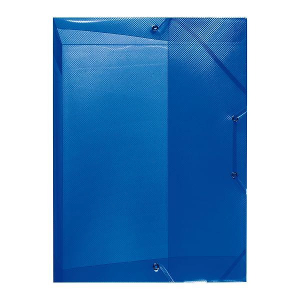 коробка для документов А4 PP полупрозрачный синий 2,5см