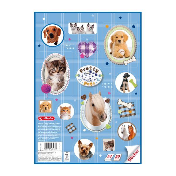 альбом для рисования А4 Pretty Pets Sticker, 50 листов, 1 узор