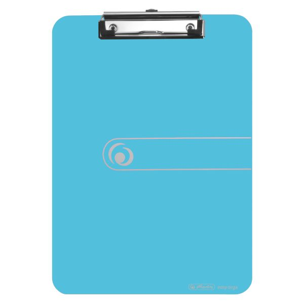 Podložka s klipom A4 transparentná modrá