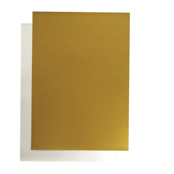 Kartón A2 zlatý jednostranný