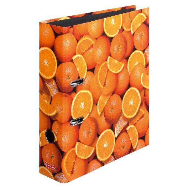 Šanón A4/8cm, laminovaný, Pomaranče