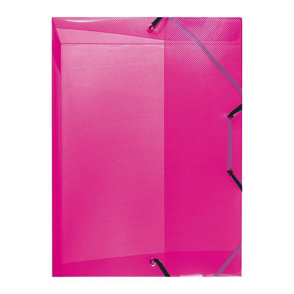 Box na spisy A4/4,Polypropylén, transparentný malinový