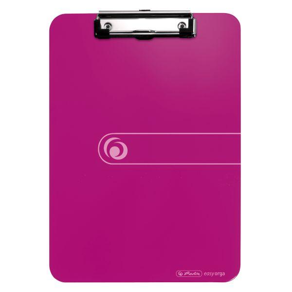Podložka s klipom PS A4 ružová